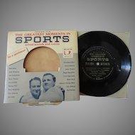 Vintage 33 1/3 Calvalcade of Sports Record – Dempsey, Rockne, Owens, Gehrig & More