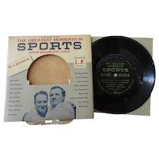 Vintage 33 1/3 Record - Calvalcade of Sports – Dempsey, Rockne, Owens, Gehrig & More