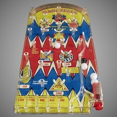 Vintage Marx Bagatelle Marble Game ca. 1950's Toy