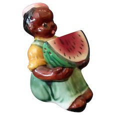 Vintage Black Boy and Watermelon Salt & Pepper – Large Set