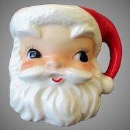 Vintage Lefton Ceramic Santa Claus Christmas Mug