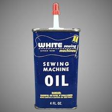 Vintage Oil Tin - White Sewing Machine Company