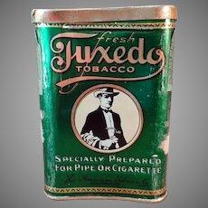 Vintage Concave Tuxedo Tobacco Pocket Tin