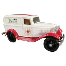 1986 Ertl Texaco #3 Ford Delivery Van Bank - Old Ertl Die Cast