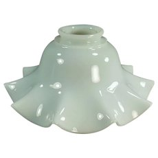 Single Vintage Fluted Milk Glass Light Fixture Shade