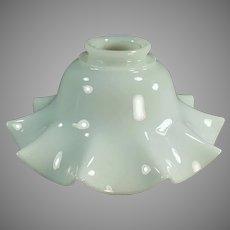 Single Vintage Fluted Milk Glass Light Fixture Shade