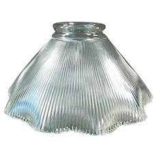 Single Vintage Light Shade - Close Ribbed Pattern 2 1/4""