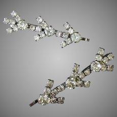 Vintage Rhinestone Hair Pins or Bridal Veil Bobby Pins