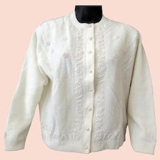 Ladies 1960's Vintage Sweater - Eloquent Beadwork – Kowloon Hong Kong