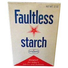 Vintage 1960's Faultless Starch Box -  Unopened Old Laundry Item
