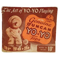 Vintage 1950 Duncan Yo Yo Instruction Booklet  - The Art of Yo-Yo Playing