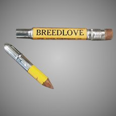 Vintage Advertising Bullet Pencil - Breedlove Live Stock Commission - Fort Worth Texas
