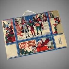 Vintage Christmas Carolers Candy or Cookie Box - Tree Decoration – Unused Condition