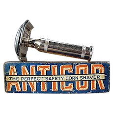 Vintage 1911 Anticor Corn Razor with Original Tin - German Corn Shaver