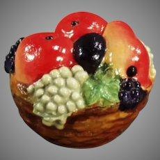 Vintage Celluloid Tape Measure - Little Fruit Basket with Vivid Colors