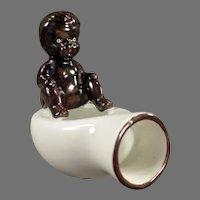 Vintage O.J. Black Memorabilia - Black Baby on Bed Pan - Occupied Japan