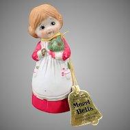 Vintage Merri-Bells Christmas Bell - Original Hang Tag 1978 Jasco