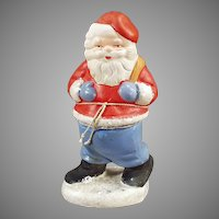 Vintage Christmas Holiday Candy Container  - Santa Claus C.C. made in West Germany