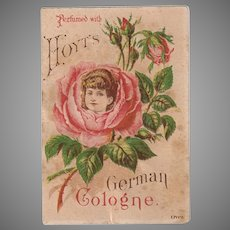 Vintage Hoyt Perfume Advertising Trade Card with Pretty Floral Image