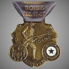 Vintage 1935 Idaho American Legion Auxiliary Medal with Original Ribbon