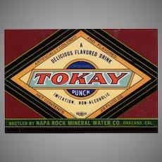 Vintage Soda Bottle Paper Label  - Colorful Tokay Punch