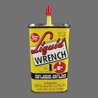 Vintage Liquid Wrench Advertising Oil Tin