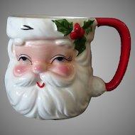 Vintage Holiday Ceramic Santa Claus Mug for Christmas Cheer