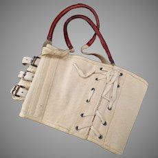Vintage Medical Apparatus – Old Akron Truss Sacroiliac Back Brace with Original Box
