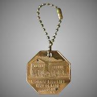 Vintage National Baseball Hall of Fame Advertising Keychain