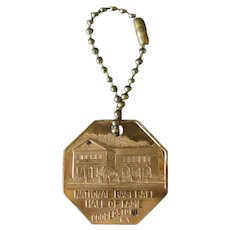 Vintage National Baseball Hall of Fame Advertising Keychain