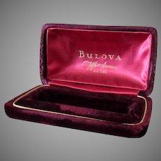 Vintage Bulova Wrist Watch Display Box – Rich Burgundy