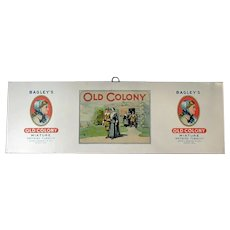 Vintage Bagley's Old Colony Tobacco - Tin Panel Advertising Sign