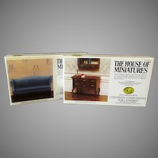 Vintage Chippendale House of Miniatures #40015 & #40024 Unassembled Kits