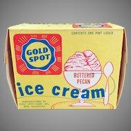 Vintage Ice Cream Carton – Gold Spot Dairy  from Enid Oklahoma