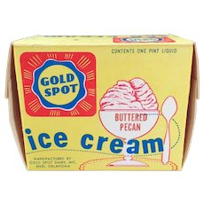 Vintage Ice Cream Carton – Gold Spot Dairy  from Enid Oklahoma