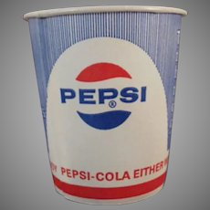 Five (5) Vintage Pepsi Cups - Sweetheart Paper Cups with Diet Logo