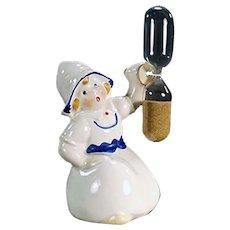 Vintage Ceramic Egg Timer - Little Dutch Girl - Made in Germany