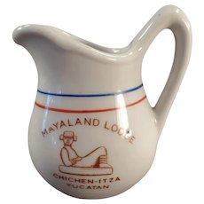 Vintage Restaurant China - Mayaland Lodge Yucatan Cream Pitcher