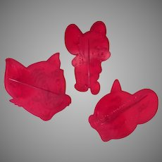 Three Vintage Cookie Cutters – Tom and Jerry Cat & Mouse - 1956