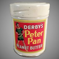 "Vintage Derby Foods Peter Pan Peanut Butter Sample Tin - Just Over 2"" Tall"