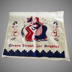 Vintage Olvera Street Los Angeles Souvenir Dish Towel – Southwest Kitchen Decoration