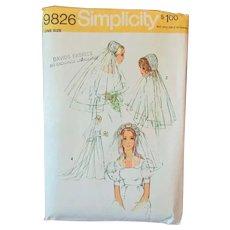 Vintage Simplicity Pattern #9826 – Bridal Headpieces & Veils - 1971