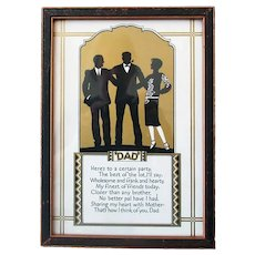 Vintage Motto for Dad - Poem & Silhouette Print - Great Gift for Father