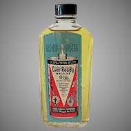 Vintage Glass Oil Bottle - Ever-Ready Machine with Original Paper Label – 1940's