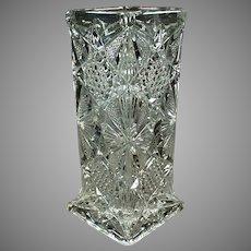 Vintage Strawholder - Illinois Pattern Pressed Glass Soda Fountain Straw Holder