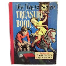 Child's Vintage Five to Seven Treasure Book - Beautifully Illustrated Story & Activity Book