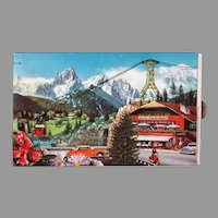 Unusual Vintage Candy Box with Moving Vehicles & Alps Graphics – Chocolats Fjord