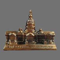 Vintage Desktop Paperweight - The Capitol Building in Washington D.C.