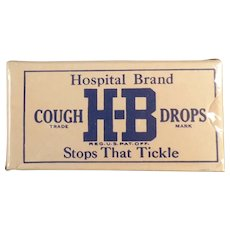 Vintage, Unopened H-B Hospital Brand Cough Drop Sample Box
