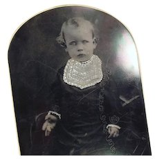 Large Format Vintage Tintype Photograph - Young Child